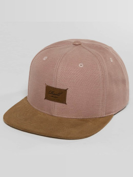 Reell Jeans Snapback Caps Suede lyserosa