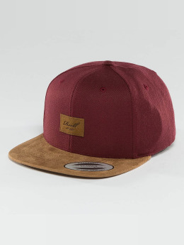 Reell Jeans Snapback Caps Suede 6 Panel punainen