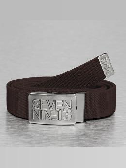 Seven Nine 13 Cinturón Jaws Stretch  marrón
