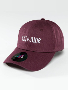 Sixth June Snapback Cap Logo purple