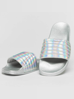 Slydes Sandals Port silver colored