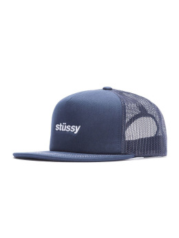 Stüssy Fitted Cap Twill Foam Trucker blau