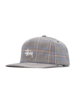 Stüssy Fitted Cap Glen Plaid grau