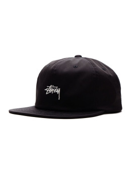 Stüssy Fitted Cap Stock Poly schwarz