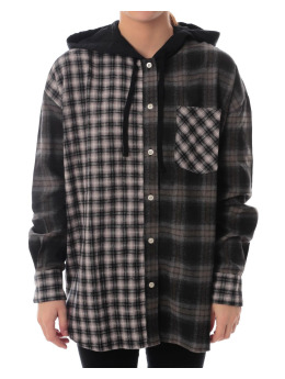 Stüssy Hoody Cashed Hooded Flannel braun