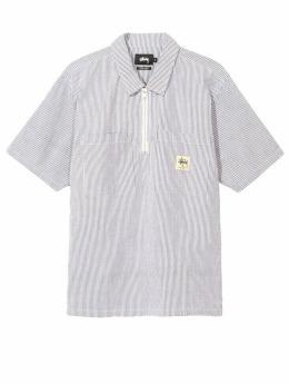 Stüssy Košele Seersucker Shirt Half-Zip biela