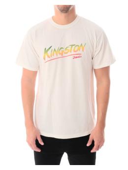 Stüssy T-Shirt Kingston Pigment Dyed weiß