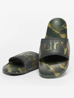 Superdry Beach Slide Sandals Classic Camouflage