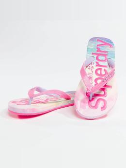Superdry Sandalen Logo pink
