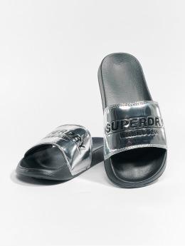 Superdry Sandals City Slide silver colored