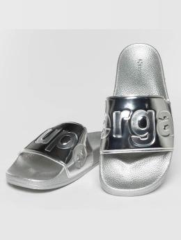 Superga Sandals Metallic silver colored
