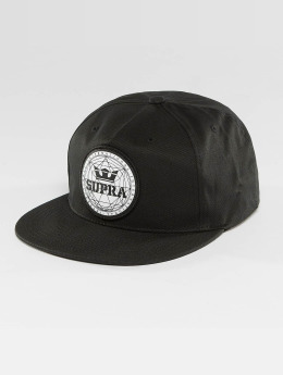 Supra Snapback Caps Geo Patch Slider musta