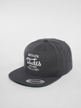 The Dudes Snapback Caps Amicable 6 Panel harmaa