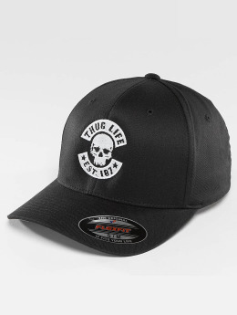 Thug Life Basic Flexfitted Cap Basic Skull Flexfit zwart