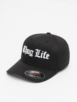 Thug Life Basic Flexfitted Cap Basic Old English zwart
