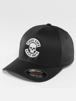 Thug Life Basic Flexfitted-lippikset Basic Skull Flexfit musta