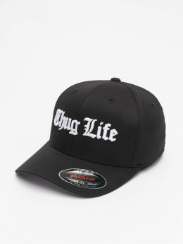 Thug Life Basic Lastebilsjåfør- / flexfitted caps Basic Old English svart