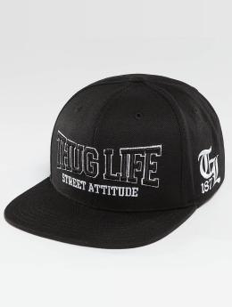 Thug Life Snapback Cap Attitude schwarz