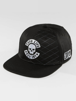 Thug Life Snapback Caps Whitline musta