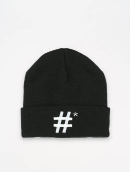TrueSpin Beanie Hashtag zwart