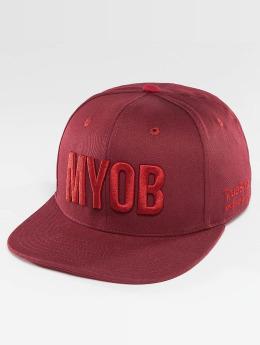 TrueSpin snapback cap Shorty MYOB rood