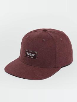 TrueSpin Snapback Caps Decent červený