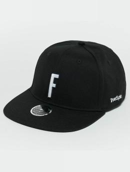 TrueSpin ABC F Snapback Cap Black/White