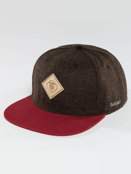 TrueSpin Snapback Caps Chevron hnědý