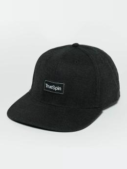 TrueSpin Snapback Caps Decent musta