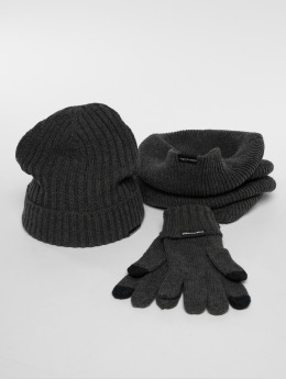 Urban Classics Beanie Winter Set gris
