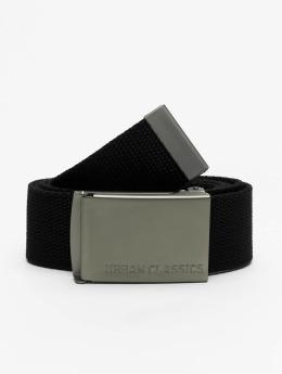 Urban Classics Cinturón Canvas negro