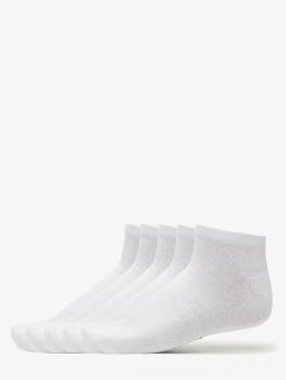 Urban Classics Ponožky 5-Pack Logo No Show  biela