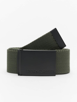 Urban Classics riem Long Canvas olijfgroen