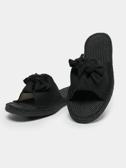 Urban Classics Slipper/Sandaal Canvas Mules zwart