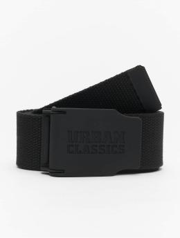Urban Classics Vyöt Woven Rubbered Touch musta