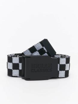 Urban Classics Vyöt Canvas Checkerboard musta