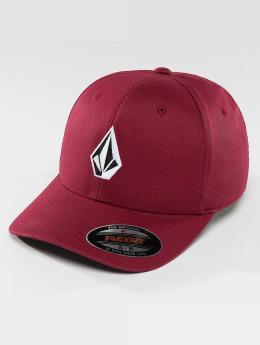 Volcom Flexfitted Cap Full Stone XFit rosso