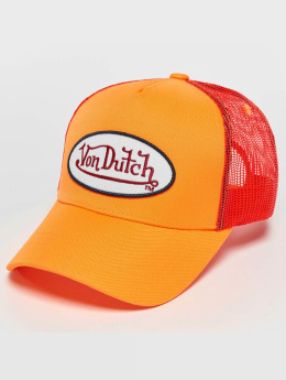 Von Dutch | Neon orange Homme,Femme Casquette Trucker mesh