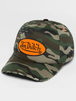 Von Dutch Snapback Caps Camo Destroyed camouflage