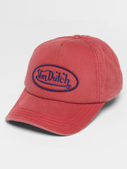 Von Dutch Snapback Caps Strapback czerwony