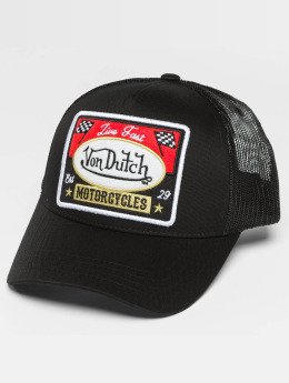 Von Dutch Trucker Caps Motor czarny