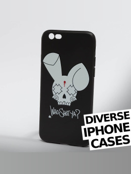 Who Shot Ya? Handyhülle Bunny Logo iPhone schwarz