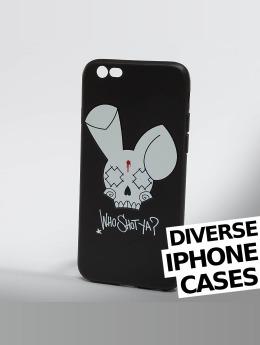 Who Shot Ya? Mobilfodral Bunny Logo iPhone svart