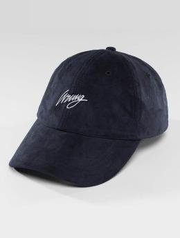 Wrung Division Snapback Caps Daim blå