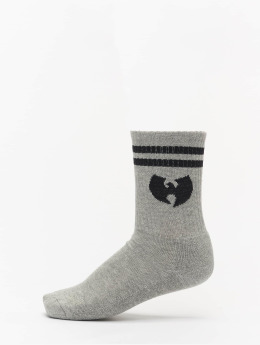 Wu-Tang Socks Logo grey