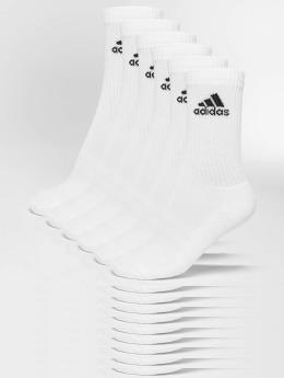 adidas Performance 3-Stripes Crew Socks (6 Pairs) White