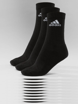adidas Performance Sukat Performance 3-Stripes Performance Crew musta