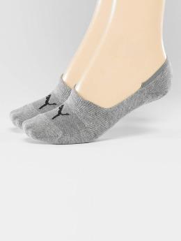 Puma Socken 2-Pack Footies grau