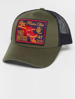 Von Dutch Trucker Caps Trucker oliwkowy