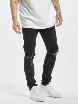 Aarhon Облегающие джинсы Destroyed черный